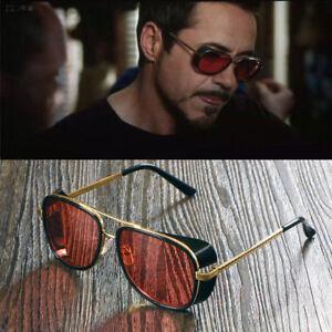 New Fashion Sunglasses Color Lens Robert Downey Tony Stark Personalized Glasses