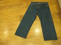 "Levi's 612, W34"", L26"", Blue, Cropped, Denim Jeans, Rise 13"", Hem 19"" vgc"
