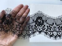 Flat Lace Trim 3 inch Wide beige Natural 6 Yards Sewing Crafts Vintage LOT 75