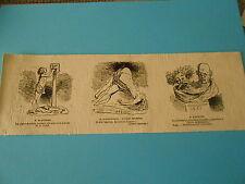 Caricature 1872 - Vignettes Jeune Dentiste Phénomène Erkmann Chatrian Médecine