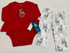 Carters Baby Girl Organic Cotton Deer Outfit 3 mo...