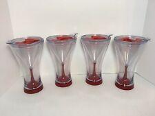 Set Of 4 WINE TUMBLER Travel Wine Glass Plastic Acrylic Camping Picnic 8oz