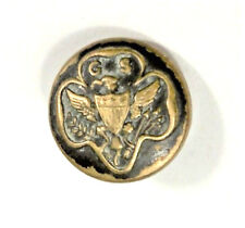 Vintage Sewing Buttons GSA Girl Scouts of America Trefoil Metal Uniform Button