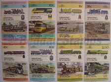 1984 GRENADINES Set #1 Train Locomotive Railway Stamps (Leaders of the World)