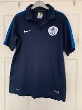 Queens Park Rangers Nike Dri-fit Blue Polo Top Size L 12-13 Years ⭐️Ex Con⭐️