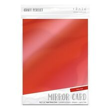 Craft Perfect A4 Mirror Cardstock Ruby Red  5pk