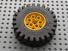 Roue LEGO TECHNIC yellow wheel 4266 & tyre 20 x 30 ref 4267 / Set 8862 8854 8853
