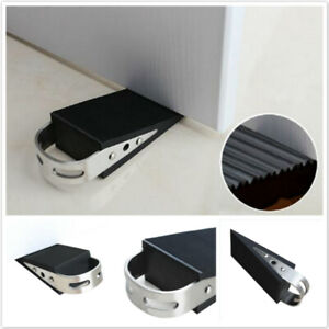 Black Rubber Office Application Door Stoper Block Safety Protector Supplies YO