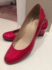 Russell & Bromley Stuart Weitzman Patent Wedge, Great Condition. US 7/UK 5