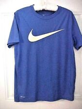 Nike Big Swoosh Mens Shirt Size Xl Short Sleeves Royal Blue Multi Color Logo New