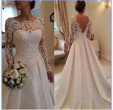 White Ivory Mermaid Gown Bridal Wedding Dress Size 2 4 6 8 10 12 14 16 18.