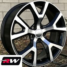 "18"" inch RW Wheels for Jeep Cherokee 18x7.5"" Black Machined Rims 5x110 Trailhawk"