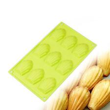 DIY 9 Big Cavity Shell Shape Silicone Madeleine Cake Pan Fondant Mold Bakeware