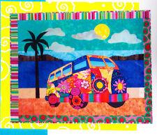 Gotta Love My Bus - fabulous applique & pieced wall quilt PATTERN - BJ Designs