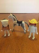 Playmobil Vtg. 1974 Geobra Indians And Pony