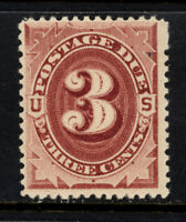 SCOTT J24 1891 3 CENT POSTAGE DUE ISSUE MH OG F-VF CAT $45!