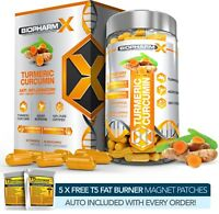 ORGANIC TURMERIC CURCUMIN CAPSULES +BIOPERINE -STRONGEST POSSIBLE 14,000MG CAPS!