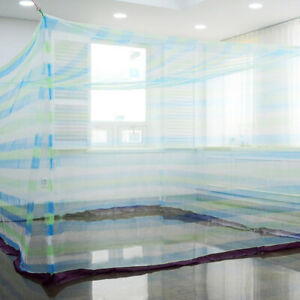 Extra Large size blue pattern Mosquito Fly Net Military Camp Outdoor (4m/13ft)