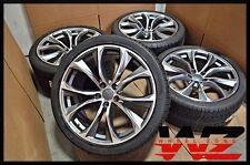 """21"""" Rims 451 Style fits BMW X5 X6 X5M X6M Gunmetal Machined Wheels & Tires 5X120"""