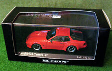 MINICHAMPS 1/43rd ~ Porsche 924 GT 1981 ~ Red ~ 400 066120 ~ NEW