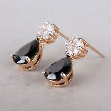Dashing black sapphire charming 18k gold filled Magnificent dangle earring