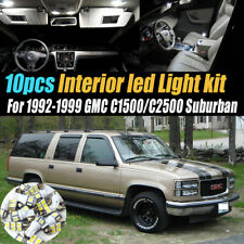 10Pc White Car Interior LED Light Bulb Kit for 1992-1999 GMC C1500/2500/Suburban
