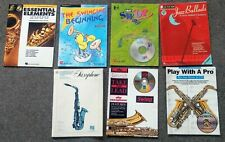 Lot Of 7 Alto Saxophone Music With Cds Play Lead
