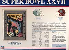 1993 SUPER BOWL XXVII SB 27 PATCH DALLAS COWBOYS BUFFALO BILLS WILLABEE WARD