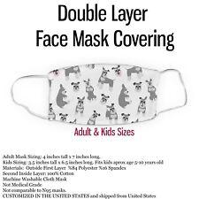 Schnauzer Dog Lightweight Face Mask Cover -Miniature Schnauzer Mask
