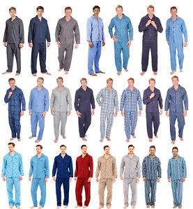 Mens Traditional Pyjamas 2 Piece Classic Set Hospital Top + Bottoms Size S - XXL