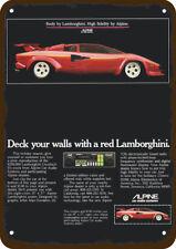 1981 ALPINE CAR STEREO Vintage Look REPLICA METAL SIGN - LAMBORGHINI COUNTACH