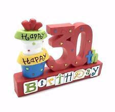 30th regalo di compleanno resina sentimento Tavolo Mensola Placca phd210-hs