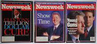 3 Newsweek Bill Clinton Gore Young Guns Show Time Trillion Dollar Cure 1992-1993