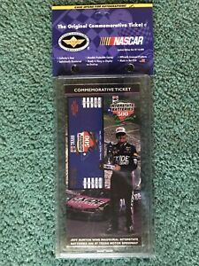 NASCAR 1997 Interstate Batteries 500 Commemorative Ticket  Jeff Burton Wins