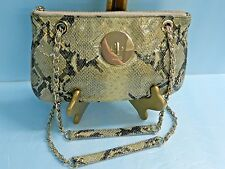 NEW DKNY~DONNA KARAN NY~PYTHON HANDBAG~PURSE~SHOULDERBAG-AUTHENTIC STUNNING BAG