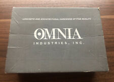 Omnia 15/00.Pd32D Stainless 15 Lever Dummy Pair Satin Stainless Steel Set Nob