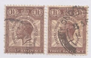 Great Britain   Sc# 207 x 2   Used   Cat Val $4     gtc24
