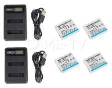 CAME-TV 4 Pcs Headset Batteries With 2 Charger's
