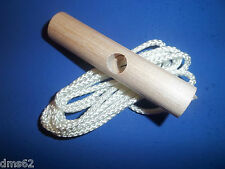 STARTER ROPE W/WOODEN HANDLE FITS CHAINSAWS MOWERS SNOW BLOWERS TILLERS 13368