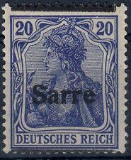 === Saargebiet GERMANIA Mi. 8 I F II *, Kat. 120€ ===
