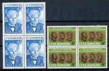Luxemburg  908 - 909 postfrisse blokken van 4