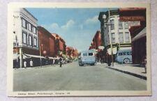 Vintage color postcard, George St, Peterborough, Ontario
