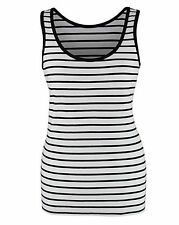 Women's Striped Cotton Hip Length Vest Top, Strappy, Cami Tops & Shirts