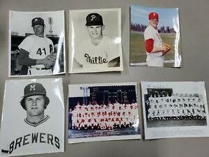 Lot of (6) Chris Short 8x10  Philadelphia Phillies Photos with 60's Team Photos