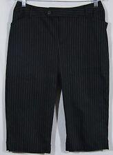 NEW St John's Bay striped capri pants stretch 8 petite 8p