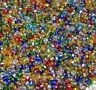 SB38 Multi-Color Bright Silver Lined Rochaille 10/0 2mm Glass Seed Beads 1oz