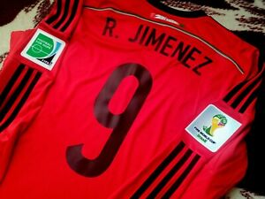 Jersey adidas mexico Raul Jimenez 2014 (XL) long sleeve wolves club america Red