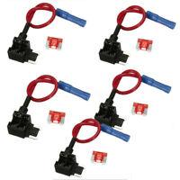 5x Add A Circuit Tap Micro Blade Back Piggy Fuse Boxe Holder Adaptor ATM ATO ATC