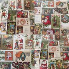 ~Nice ~Huge Lot of 46 SANTA CLAUS Antique Christmas Postcards-Vintage Santa