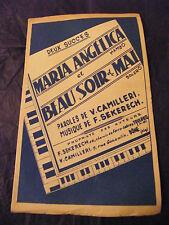 Partition Maria Angélica Beau soir de Mai Sekerech Music Sheet
